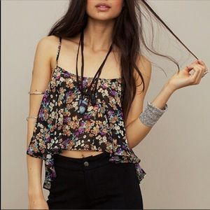 Floral Tour Bus Tank with Matching Bralette